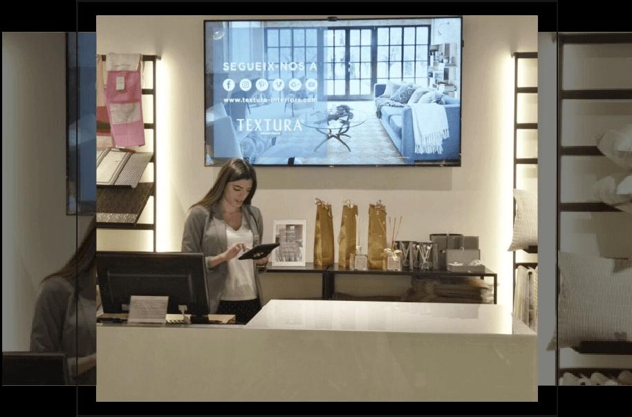 pantalla para negocio